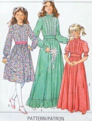 Vintage Style 3252 Pattern Girls Bridesmaid Or Party Dress 2 Lengths • 3.48£