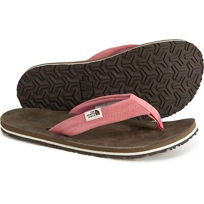 The North Face Womens Base Camp Pink Leather Beach Camping Flip Flops Size 6 • 24.31£