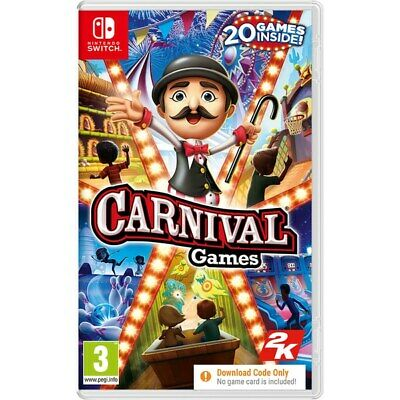 Carnival Games For Nintendo Switch Console - Code In Box *FREE & FREE DELIVERY* • 23£