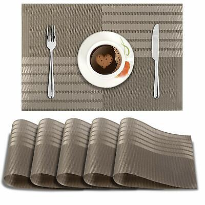 AU64.99 • Buy PVC Vinyl Washable Table Mats For Dining Table 45 X 30 Cm Set Of 6 (AR872)