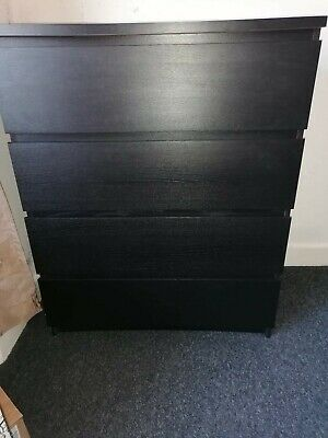 IKEA Chest Of 4 Drawers Black • 25£
