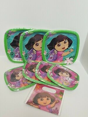 Dora The Explorer Nickelodeon Birthday Party Supplies Plates Lot  • 14.35£
