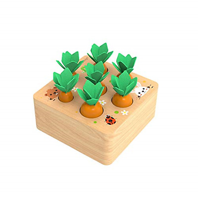 £19.83 • Buy XIAPIA Radish Wooden Toys For 1 2 3 Year Old Boys Girls Montessori First Birt...