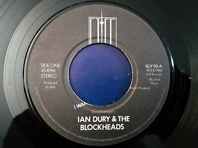 Ian Dury And The Blockheads - I Want To Be Straight - 7  Record - Stiff - Buy 90 • 1.99£