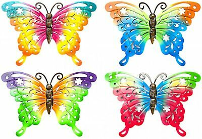 Metal  Butterfly Wall  Plaques Garden Outdoor Ornament Decoration X 4  • 8.99£