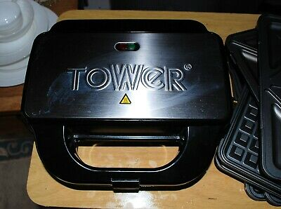 Tower 3 In One Sandwich Maker Waffle Iron Grill Panini Press   • 10£