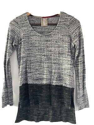 $ CDN8.84 • Buy Anthropologie Dolan Left Coast Collection Gray Long Sleeve High Low Top XS