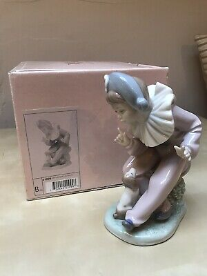 Nao Lladro Figurines Clown Boy And Dog Puppy • 20£