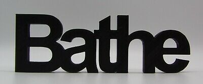 £8.46 • Buy  Bathe  Word Home / Office / Shop Ornament - Arial Font