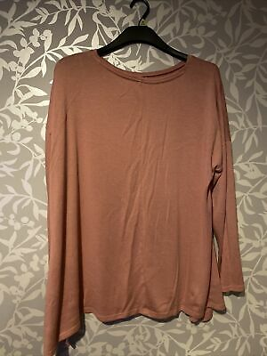 Ladies Matalan Long Sleeved Top Size 20 • 1.30£