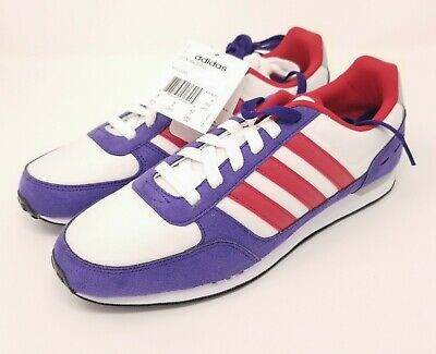 AU63.14 • Buy Adidas NEO City Racer Women's Size 9.5 Shoes Red White Purple New