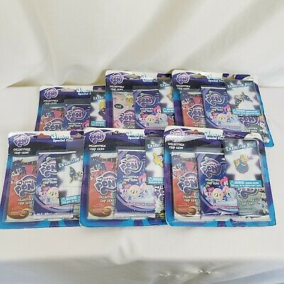 Lot Of Six 3 Packs Of My Little Pony Collectible Card Game With Exclusive Pin • 37.86£