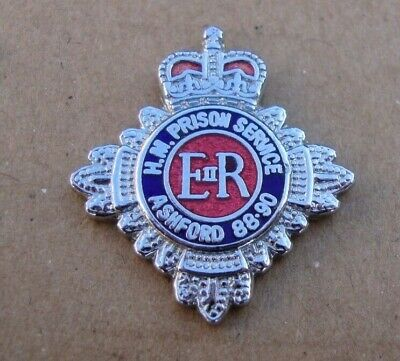 HM Prison Service HMP ASHFORD Tie Tac Pin Badge BY JEEVES • 6.01£