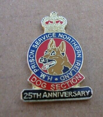 HM HMP Northern Ireland Prison Service DOG SECTION German Shepherd Pin Badge K-9 • 2£