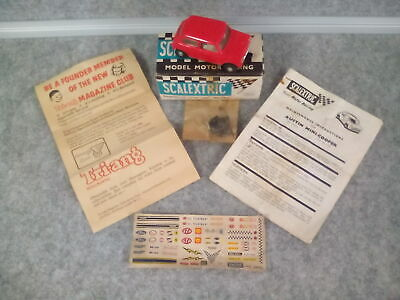 Vintage Scalextric Triang Mini Cooper C76 Red With Box + More !! • 20£