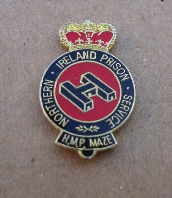 HM HMP Northern Ireland Prison Service THE MAZE (H BLOCK) Tie Tac Pin Badge • 4£