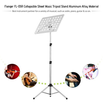 $ CDN62.24 • Buy Folding Music Stand Silver With Bag For Violin Piano Guitar Performance Z9L6