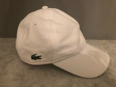 Lacoste Women's White Cap - Good Condition Used - Size Small • 4.99£