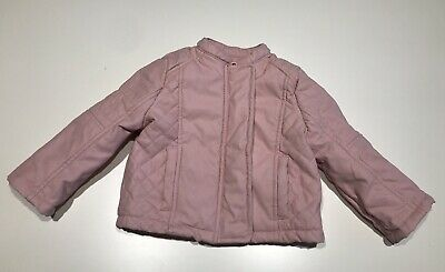 F&F Baby Girl Faux Leather Pink Jacket Size 6-9 Months • 3.99£