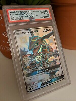 $ CDN599.91 • Buy Pokemon Black Star Promo Card Hidden Fates Rayquaza GX 177a/168 PSA 10 GEM MINT
