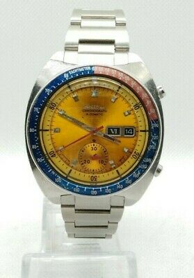 $ CDN1213.15 • Buy VINTAGE SEIKO POGUE CHRONOGRAPH AUTOMATIC Ref. 6139-6002 Cal. 61139B YELLOW