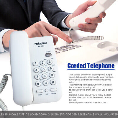 £14.94 • Buy Caller ID Hotel Corded Telephone Home Office Big Button Wall Mounted Landline