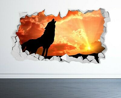 £14.99 • Buy Wolf Wall Sticker 3d Look - Bedroom Lounge Tiger Nature Wall Decal Z1054