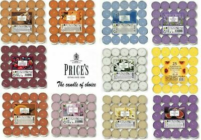 £3.47 • Buy Prices Pack Of 25 Scented Tealights Quality Candles Tea Night Lights 4 Hour Burn