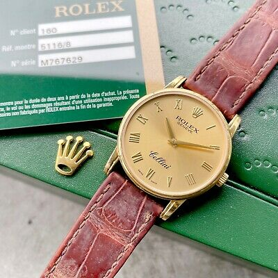 $ CDN5499.95 • Buy 2010 Rolex Cellini Classic 18k Yellow Gold 5116 - 5116/8 - Box + Papers