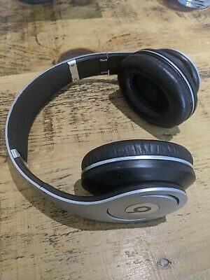 MONSTER BEATS By DR DRE Studio Gen 1 White Wired Headphones Silver • 7.60£