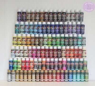 £3.50 • Buy DecoArt Crafters Acrylic Paint 2oz 59ml Including Metallics And Glamour Dust