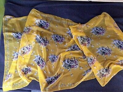 AU144.47 • Buy Rare Large Skull Alexander Mcqueen Scarf Vintage Yellow Original Made In Italy