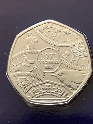 £10.99 • Buy 2021 FIFTY Pence 50p Coin 1971 DECIMAL DAY BUNC