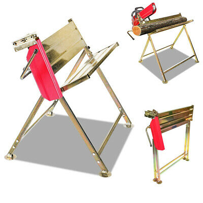 Sawhorse Log Garden Chain Saw Steel Construction Sawing Foldable Patio Log • 47.99£