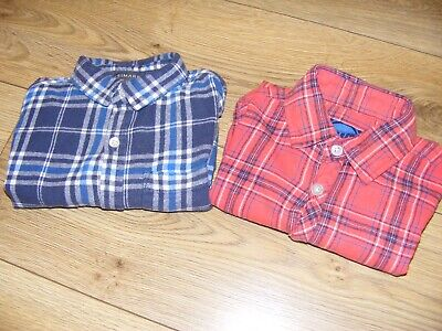 2 BOYS Check Shirts Age 5-6 Years Blue Zoo Primark. • 2.50£