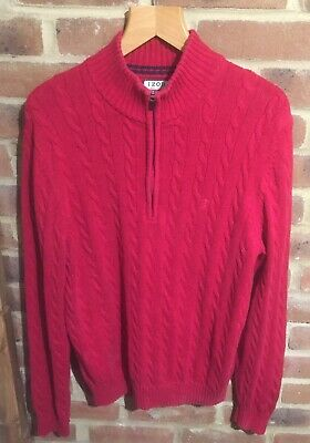 IZOD(formally Lacoste)JUMPER SIZE(M)IN RED CABLE KNITTED COTTON,con't. • 4.01£