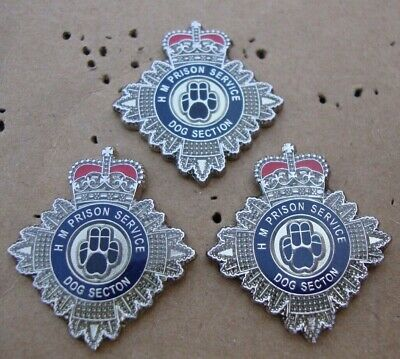 HM HMP Prison Service DOG SECTION Tie Tac Pin Badges K.9 • 3£