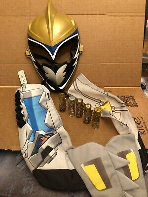 £59.99 • Buy Power Rangers Dino Charge Gold Ranger Mask ,Gold Chargers X5 Cells Dress Up Set
