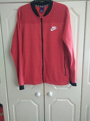 Men's Nike Knitted Tracktop Large Coral. Excellent Condition. • 14.90£