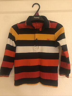 Blue Zoo Boys Long Sleeved Polo Shirt 5-6 Years Great Condition • 4£