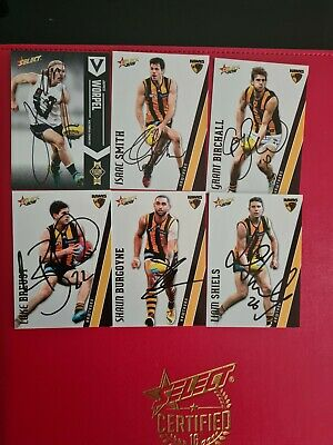 AU25 • Buy Hawthorn Hawks Afl Cards Signed X6