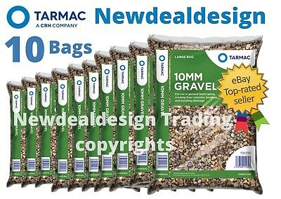 £44.99 • Buy 10 X BAGS OF 10MM GARDEN GRAVEL FOR EDGING DRIVEWAY PEA SHINGLE PATHS MIX 25KG