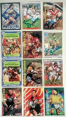 AU7.50 • Buy 1990's Signed NRL Single Cards!!!!