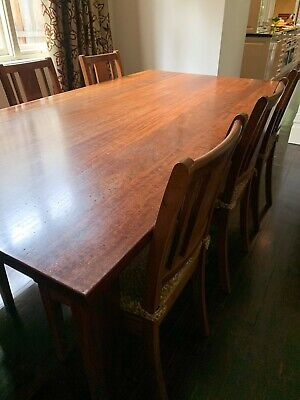 AU3000 • Buy Dining Table And 6 Chairs - Nicholas Dattner Solid Redgum