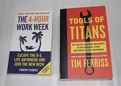 AU39.99 • Buy The 4-Hour WorkWeek & Tools Of Titans By Timothy Ferriss | FREE EXPRESS POST