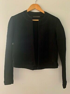 AU50 • Buy Scanlan Theodore Black Knitted, Textured Crepe Jacket -  Size S/M New Condition