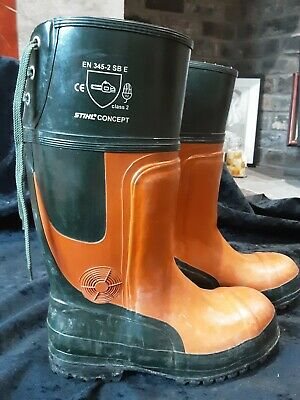 Stihl Concept  Chainsaw Safety Boots Size 43 (UK 9.5/10) • 36£