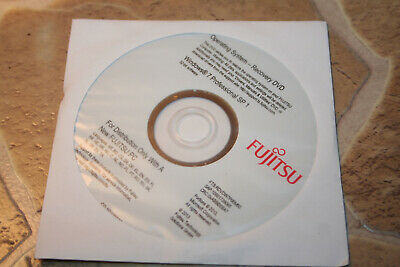 Fujitsu WINDOWS 7 PROFESSIONAL SP1 - 32 BIT Recovery- DVD , Neu • 5.10£