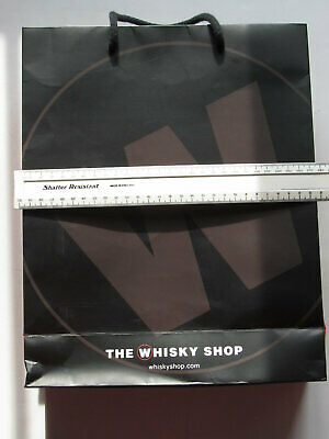 The Whiskey Shop Carrier Bag (strong Paper) With Rope Carrying Handles • 0.99£