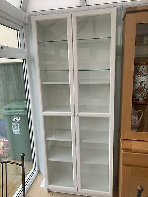 Ikea Billy Bookcase With Glass Doors And Two Glass Shelves (read Description) • 100£